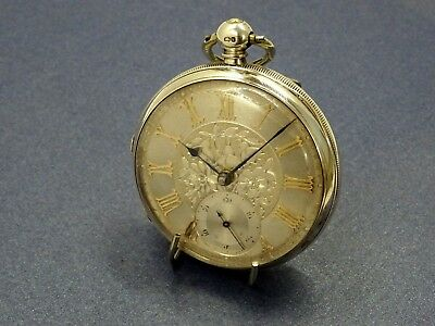 1878 Silver Dial Fusee Gents Pocket Watch. Harris & Andrews. Serviced. Antique.