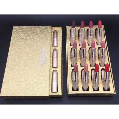Brand NEW MAC 12 lipsticks SET FREE SHIPPING UK
