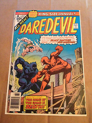 Daredevil Annual # 4 - Black Panther & Sub-Mariner App - Marvel 1976