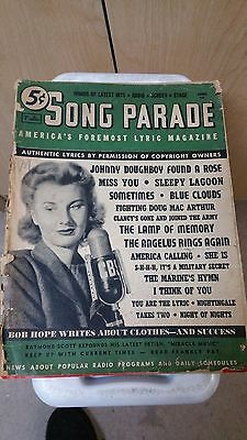 1942 Song Parada Music Book MUST SEE Look!
