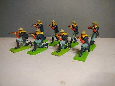 Britains Deetail 7th Cavalry 8 on foot in firing positions