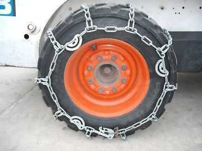 10-16.5 Skidloader/ Skidsteer Tire Chains, Case Hardened, Traction Tire (Pair)