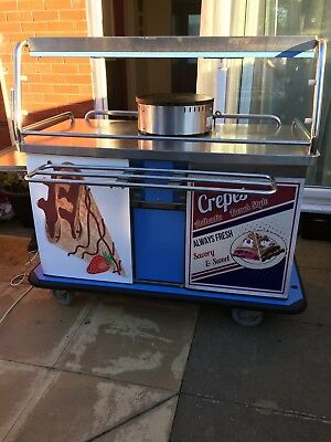 Catering Cart, Crepe Trolley, kiosk, Stainless Steel