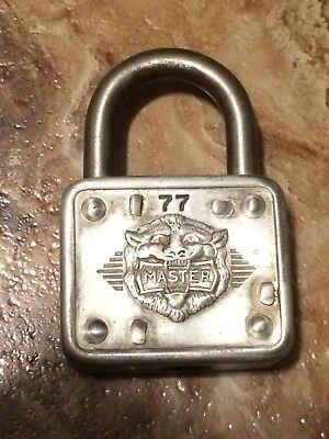 Vintage Master Lock Co. 77, Lions Face Lock  - NO KEY!