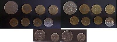 Foreign coins lot: Hungary Eritrea 2 diff + Germany Netherlands pre-euro 4 diff