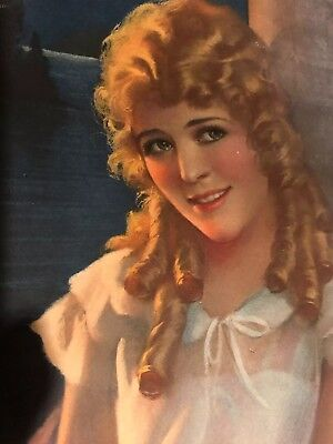 1923 Mary Pickford  Pompeian Beauty Panel Product Ad Lithograph