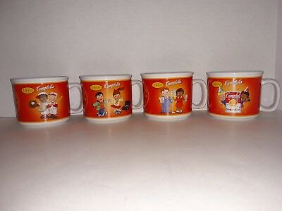 Campbell's Soup Mugs Set of 4 Campbell's Kids 100 Years 2003