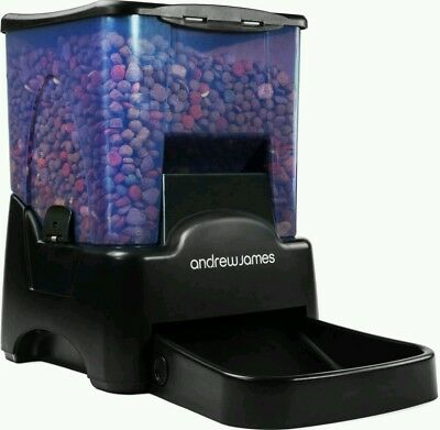 Andrew James Large Automatic Pet Feeder 10.6L Capacity - Voice Recorder