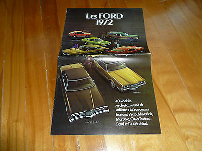 Ford 1972 Full Line Big Brochure Catalog French Original Vintage Dealer Sales