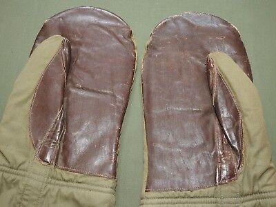 US Army AAF WW2 B-17 BOMBER PILOT A-12 ARCTIC FLIGHT GLOVES Vtg Mittens RARE