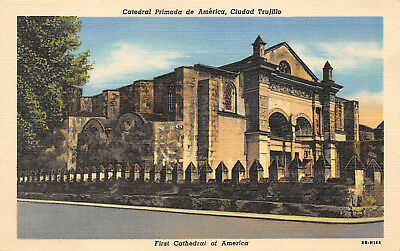CIUDAD TRUJILLO, DOMINICAN REPUBLIC,  FIRST CATHEDRAL OF AMERICA ~ dated 1949