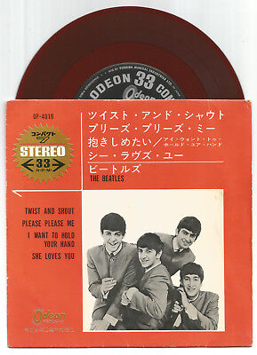 "The Beatles  / Twist And Shout  Ep  // Rotes Vinyl  7"" Mit Cover"