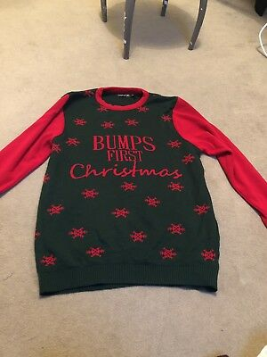 maternity christmas jumper size small - medium bumps first christmas
