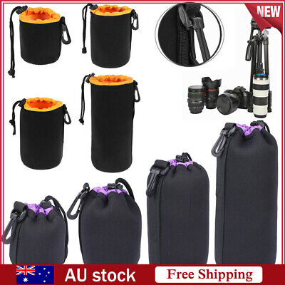 Waterproof Neoprene Lens Pouch Bag Protective Case for Digital SLR Camera S-XL