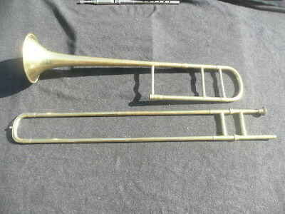 RARE OLD FRENCH TROMBONE by GAUTROT MADE FOR EXPORT TO MANILA