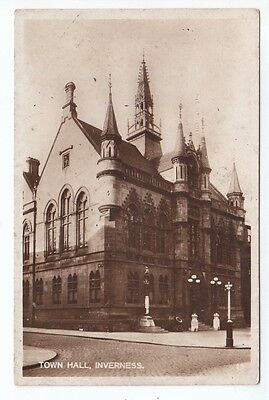 Town Hall & Clach Na Cudainn Stone Of The Tubs Inverness Real Photograph Old PC