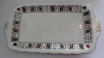 Queens China Playing Card Sandwich Tray