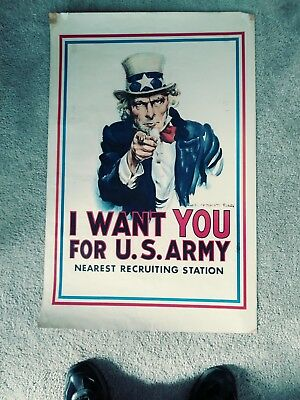 I Want You For U.S. Army Vintage Poster