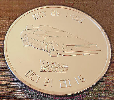 BACK TO THE FUTURE Silver Coin 30th Anniversary Science Fiction Classic Film USA