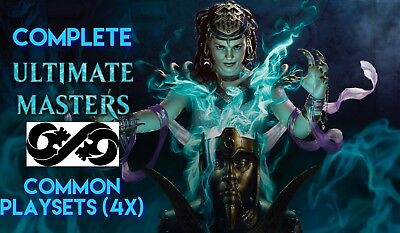 MTG, Ultimate Masters Common Playsets, Complete! 4x Of All 100+ Commons!