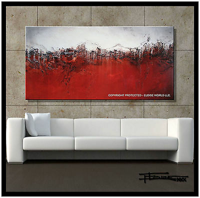 Painting Abstract Large Textured Modern CANVAS WALL ART Framed Signed ELOISExxx