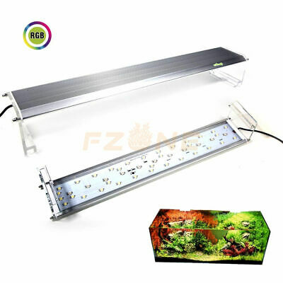 Aquarium Full Spectrum RGB LED Plant Light, 100-Lev Dimmable and Size Adjustable