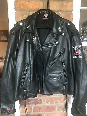 The Rolling Stones Voodoo Lounge Leather Jacket Coat XL Mick Jagger
