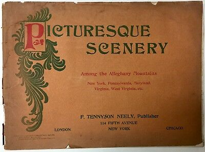 1899 Picturesque Scenery Alleghany Mountains Illustrated Photo View Book Rare