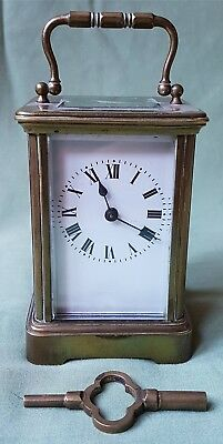 c.1900 Carriage Clock by A.D. ARON.   Beautiful quality and working