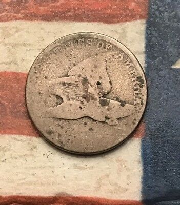 1856-1858 1C Flying Eagle Penny Cent Vintage US Copper Coin #LX100