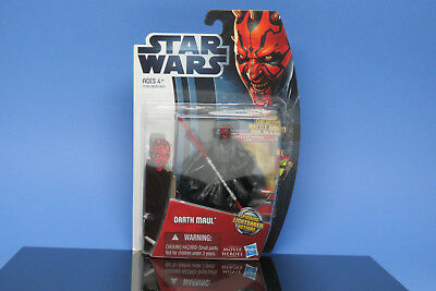 Star Wars Darth Maul with Spinning Lightsaber! New!  Includes Card with Stand!
