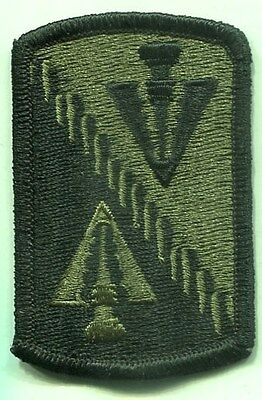 US Army 128th AVIATION BRIGADE Subdued Patch Merrowed Edge