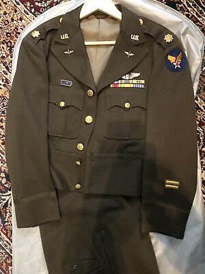 WWII Army Air Corp Officers Tunic & Trousers! Stunning Gabardine! From Estate!