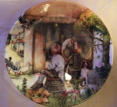 'THE COOPER' Royal Doulton Bone China Collectors Plate - Old Country Crafts -