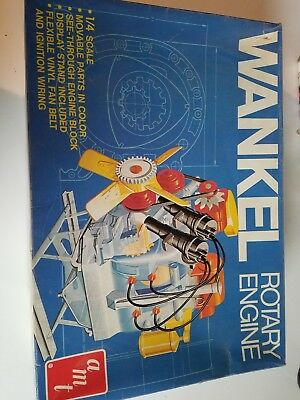 AMT Wankel Rotary Engine 1/4 Scale Kit T575 Model Movable Parts Built