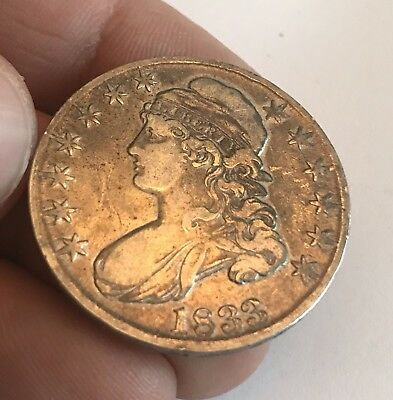 1833 capped bust half dollar - Beautiful Coin.