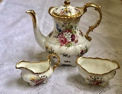 Hammersley Lady Patricia Coffee pot with bowl and jug
