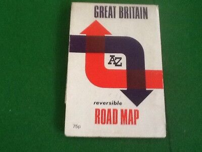 Great Britain Map: Reversible Road Map by Geographers' A-Z Map Company (Sheet ma