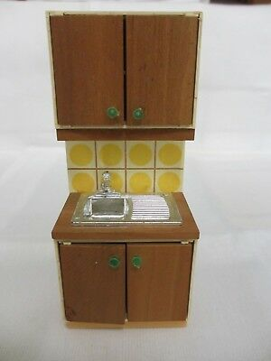 Lundby 16Th Scale Kitchen Sink Unit With Cupboards - Perfect Condition