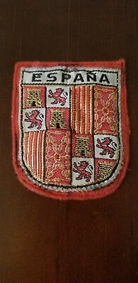 Vintage  Spain Europe Cloth Souvenir travel Jacket Patch 1960-70s