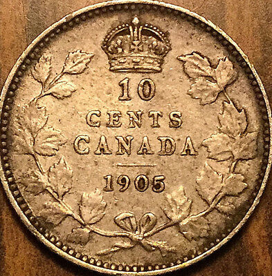 1905 CANADA SILVER 10 CENTS - Very good example!