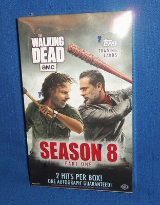 2018 Topps Walking Dead Season 8 Part 1 Factory Sealed Hobby Box hits autograph