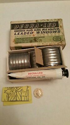 vintage window lead decra-led box of lead