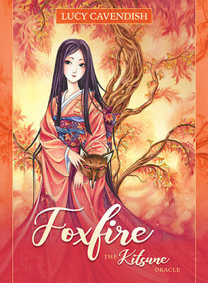 Foxfire Kitsune Oracle NEW Sealed 45 Color Cards 144pg Guide book Lucy Cavendish