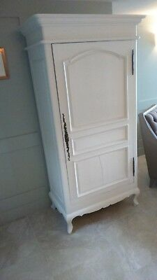 Vintage Repro French Armoire Cupboard Linen Press Wardrobe with Shelves