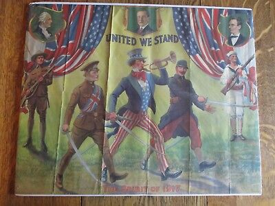 United We Stand The Spirit of 1917 James Lee (1918) WWI Poster