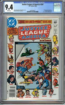 Justice League of America #207 CGC 9.4 NM JSA All-star Squadron App Holiday Gift