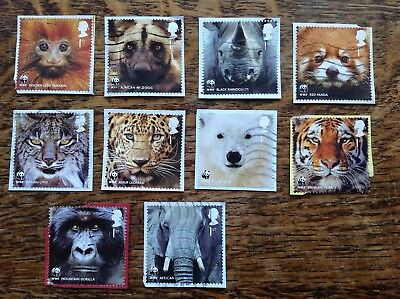 GB Commemoratives 2011,World Wide Fund For Nature,set Of 10 Franked On Paper
