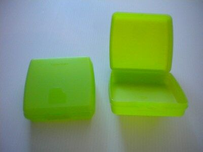 Tupperware 2 Square Green Sandwich Containers