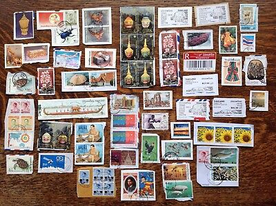 Collection Of Thailand Stamps Kiloware